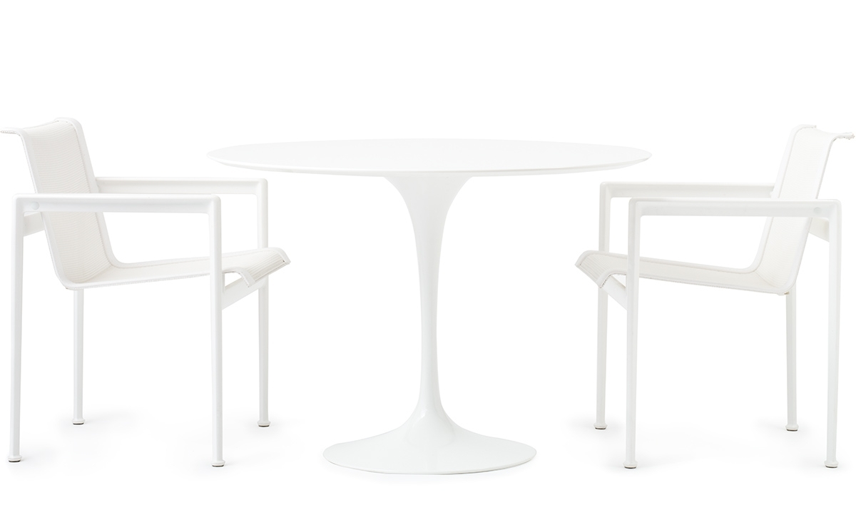 2017 Saarinen Outdoor Round Dining Table – Hivemodern Throughout Round White Dining Tables (Gallery 25 of 25)