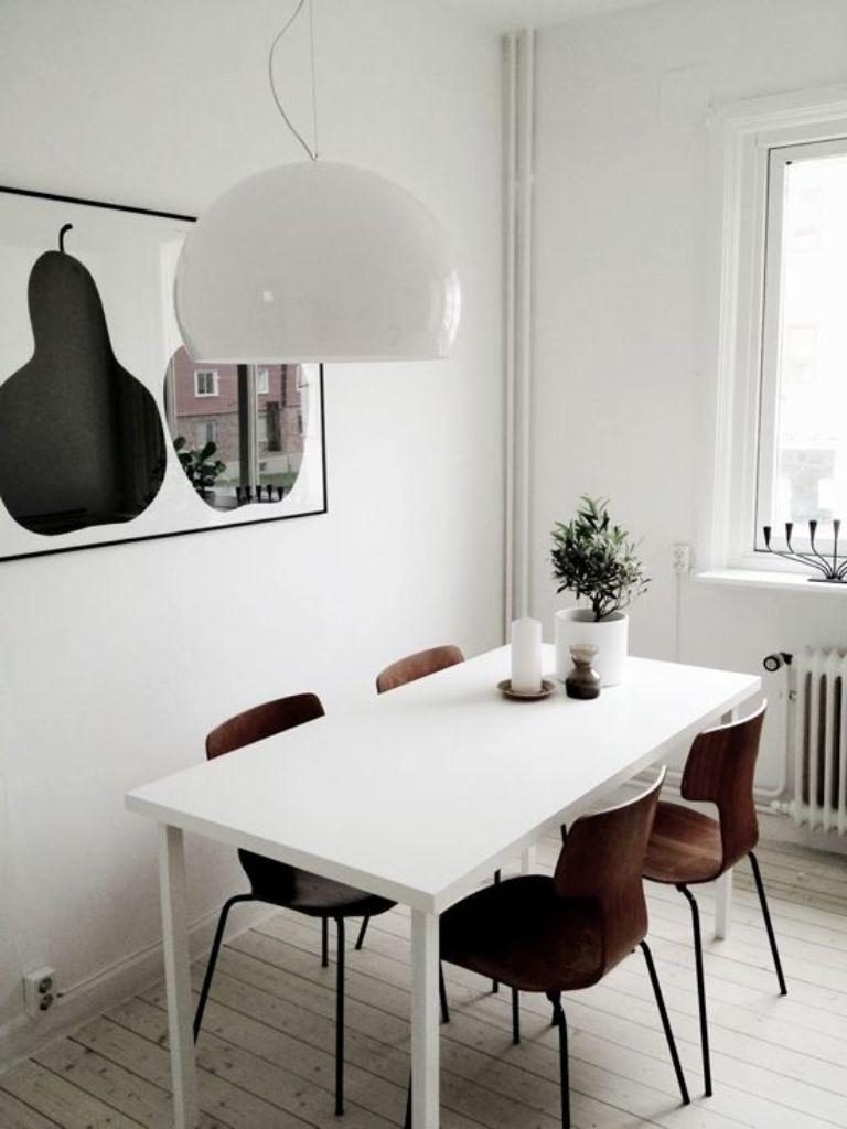 2017 Scandinavian Dining Tables And Chairs Throughout 20 Astonishing Scandinavian Dining Room Ideas – Rilane (View 2 of 25)