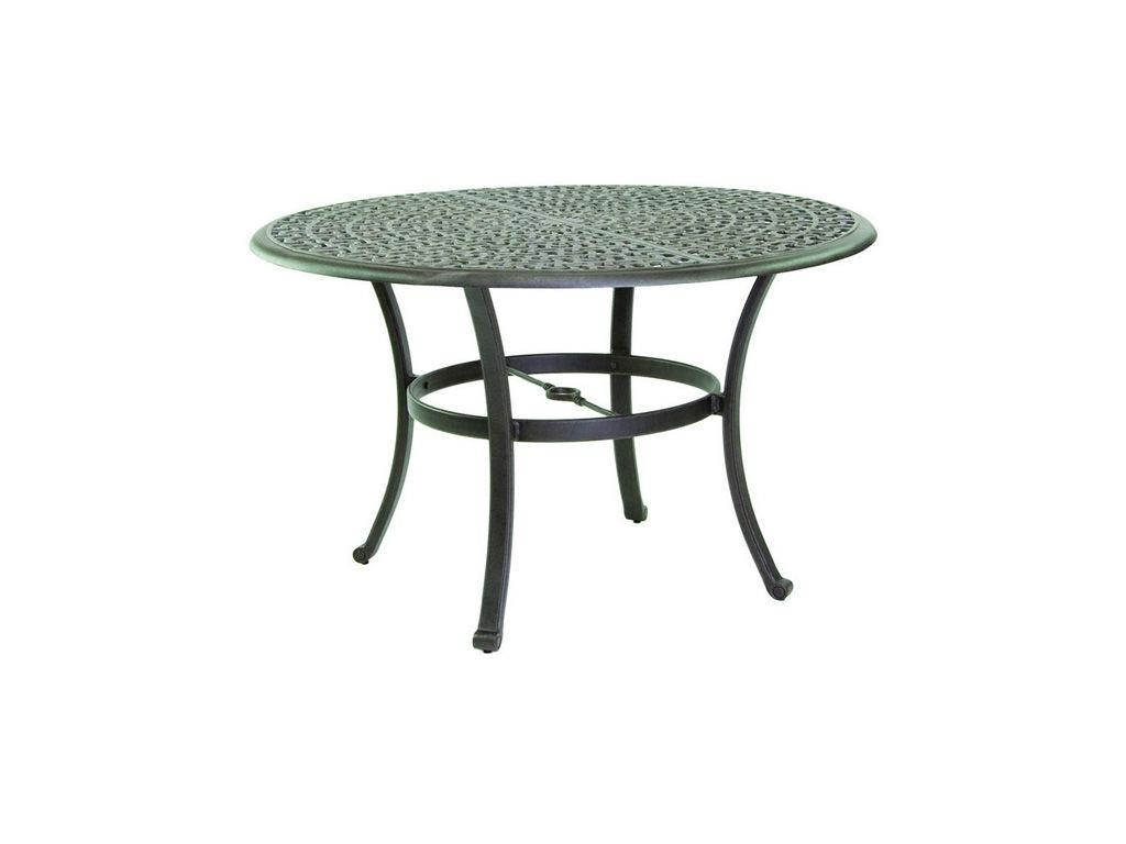 "2017 Sienna 48"" Round Dining Table – Hauser's Patio Pertaining To Outdoor Sienna Dining Tables (View 16 of 25)"
