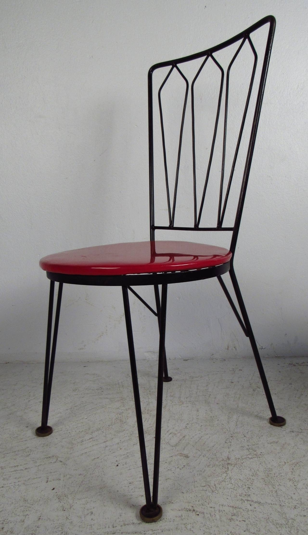 2017 Stylish Dining Chairs In Stylish Vintage Metal Dining Chairs, Circa 1950S For Sale At 1Stdibs (View 22 of 25)