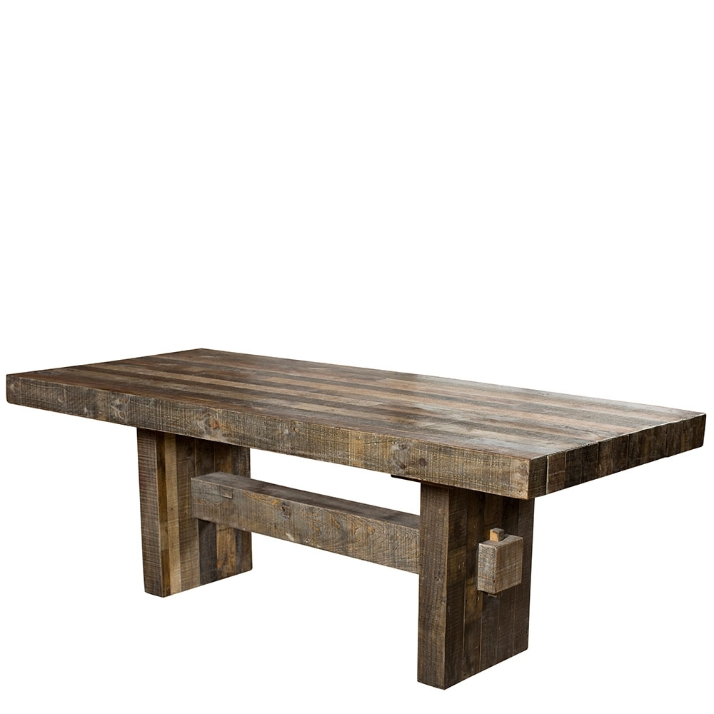 2017 The San Quentin Lyell Dining Table – Rustic Dining Tables And Chairs Inside Rustic Dining Tables (View 1 of 25)