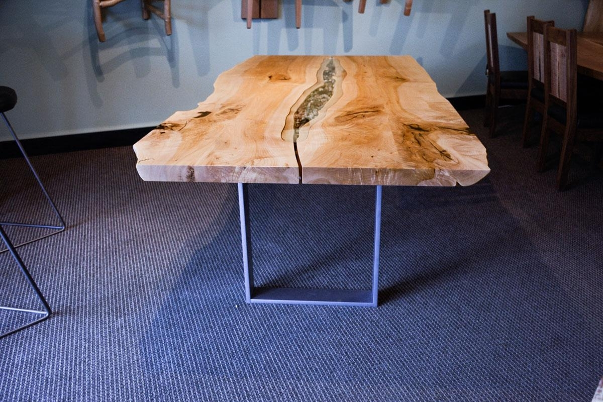 2017 Tree Dining Tables within Live Edge Swing Tree Dining Table With Blackcomb Base Made In Canada