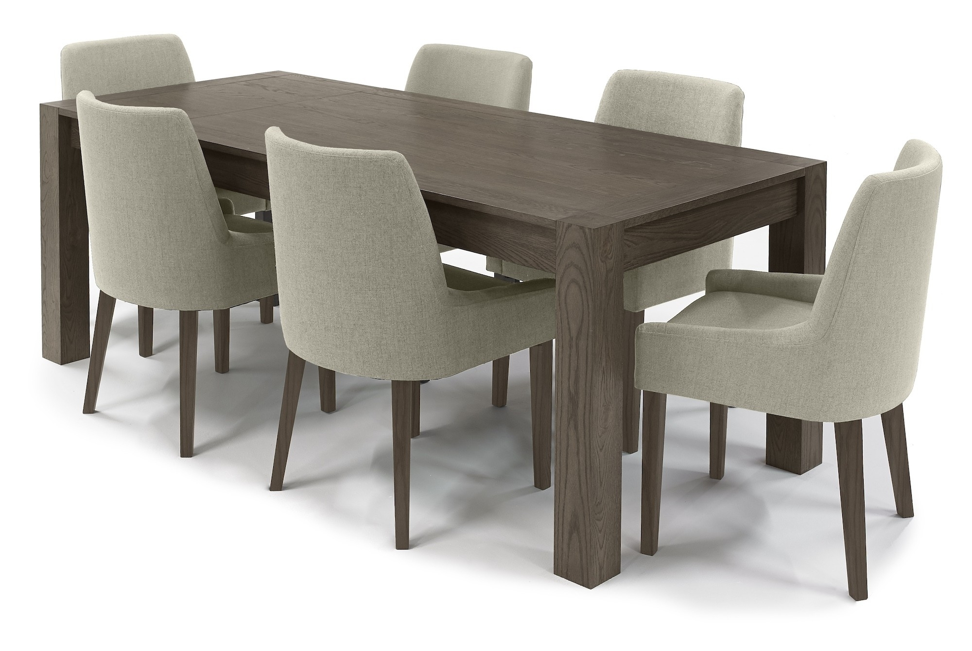 2017 Turin Dark Oak Dining Table Medium 4 6 Seater End Extension Dining Within Oak Dining Tables (View 3 of 25)