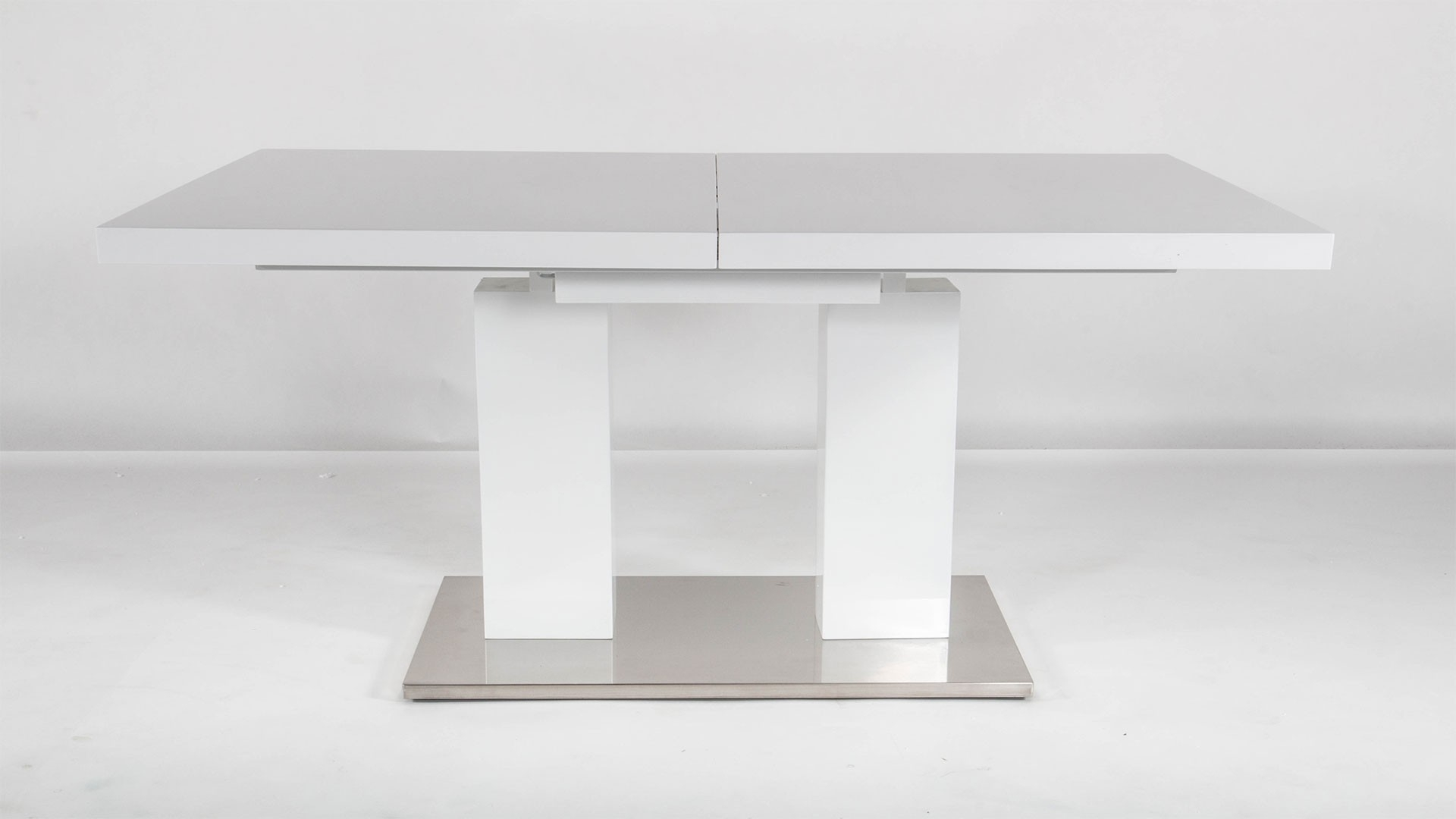 2017 Va9830 White Extentable Dining Collectionat Home Usa With Delfina Dining Tables (View 1 of 25)