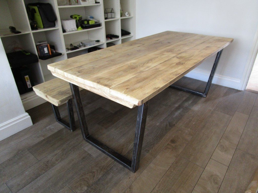 2017 Vintage Style Industrial Reclaimed Wood Dining/kitchen Table With For Cheap Reclaimed Wood Dining Tables (View 1 of 25)