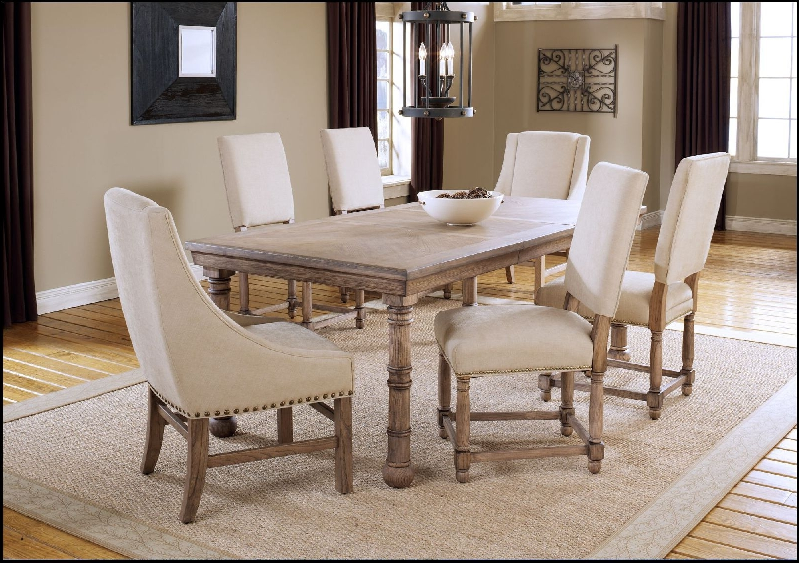 2017 Wonderfull Dining Table Light Wood How To Refinish A Room With intended for Cream And Wood Dining Tables