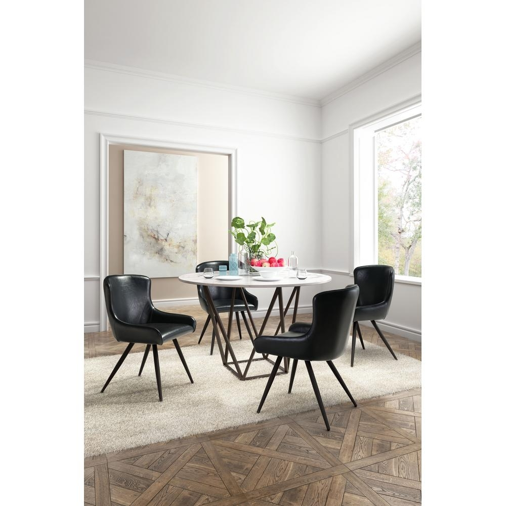 2017 Zuo Tintern Stone And Antique Brass Dining Table 100715 – The Home Depot Intended For Stone Dining Tables (View 2 of 25)