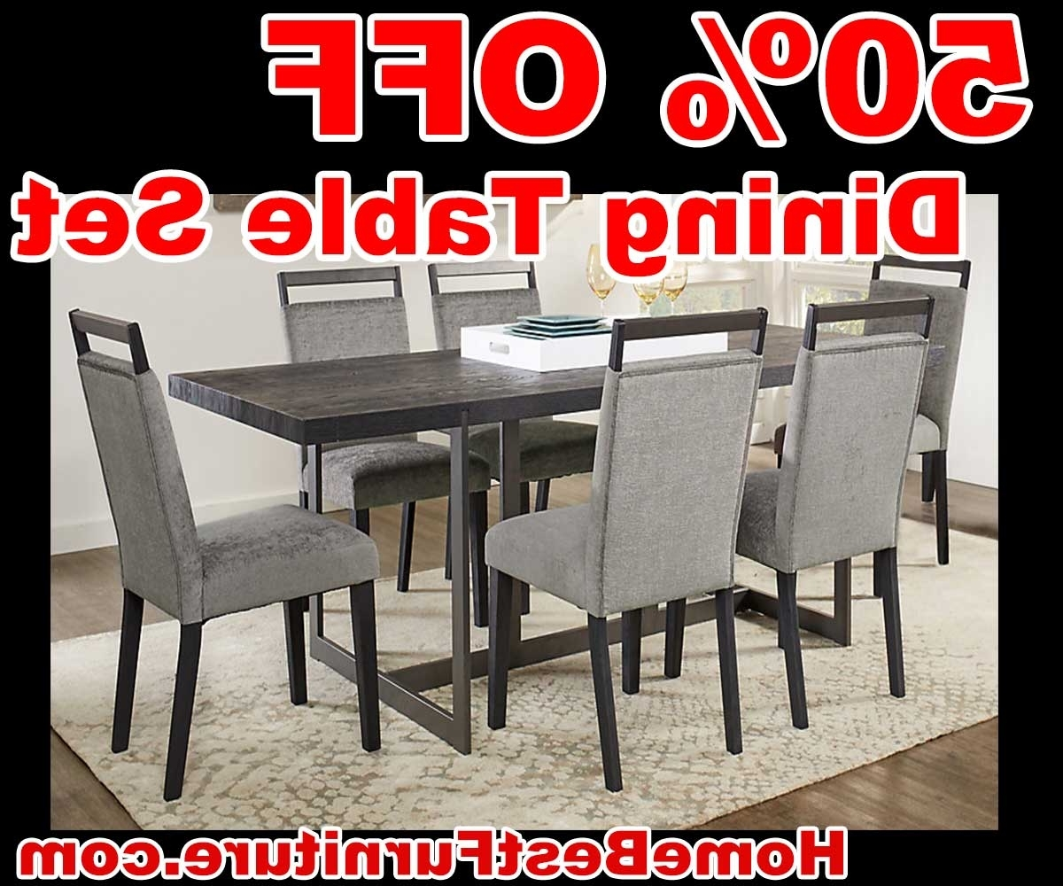 2018 50 Percent Off Discount Amsterdam Avenue Black 5 Pc Rectangle Dining Pertaining To Crawford 6 Piece Rectangle Dining Sets (View 24 of 25)