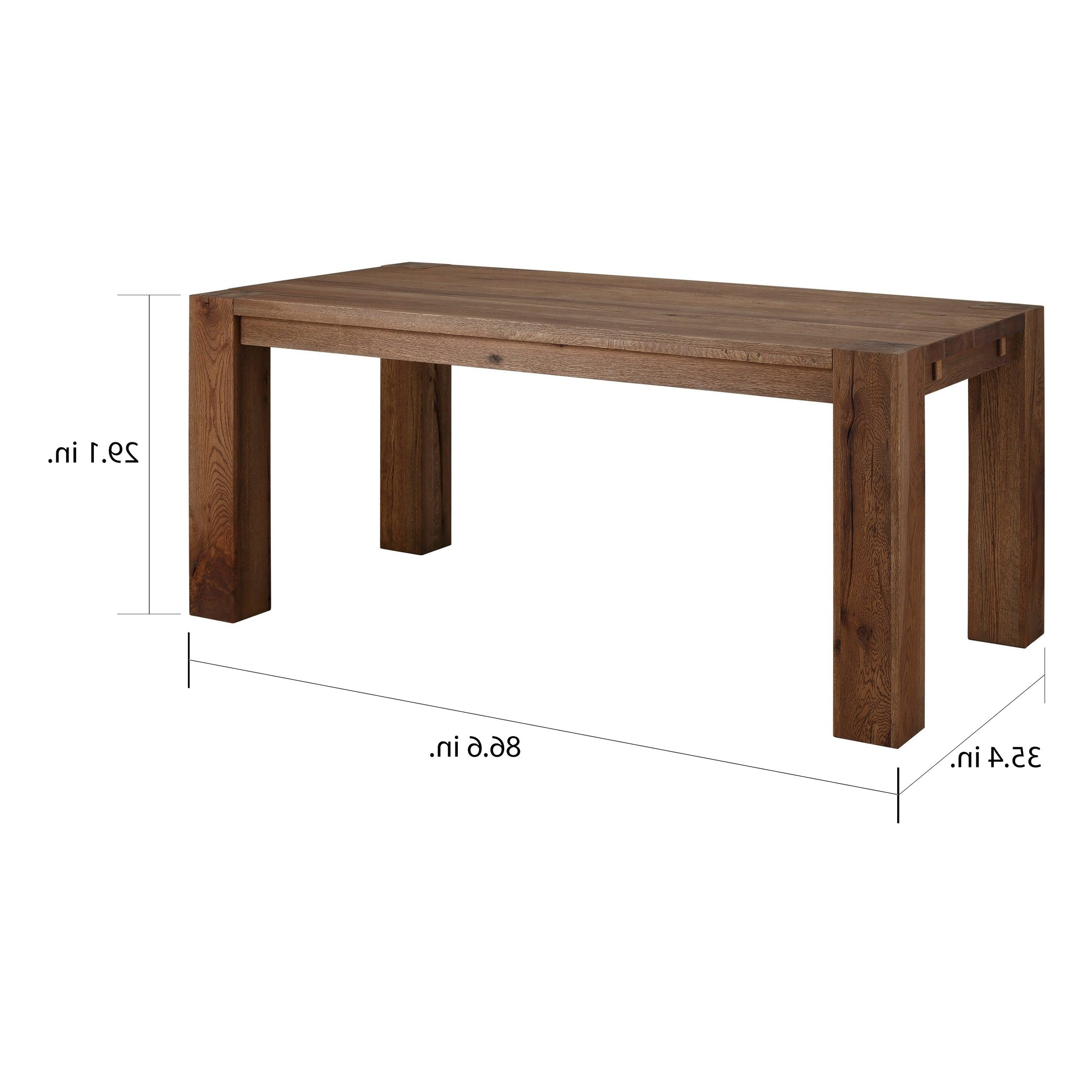 2018 87 Inch Dining Tables Intended For Shop Matrix 87 Inch Wild Oak Dining Table, Smoked – On Sale – Free (View 7 of 25)