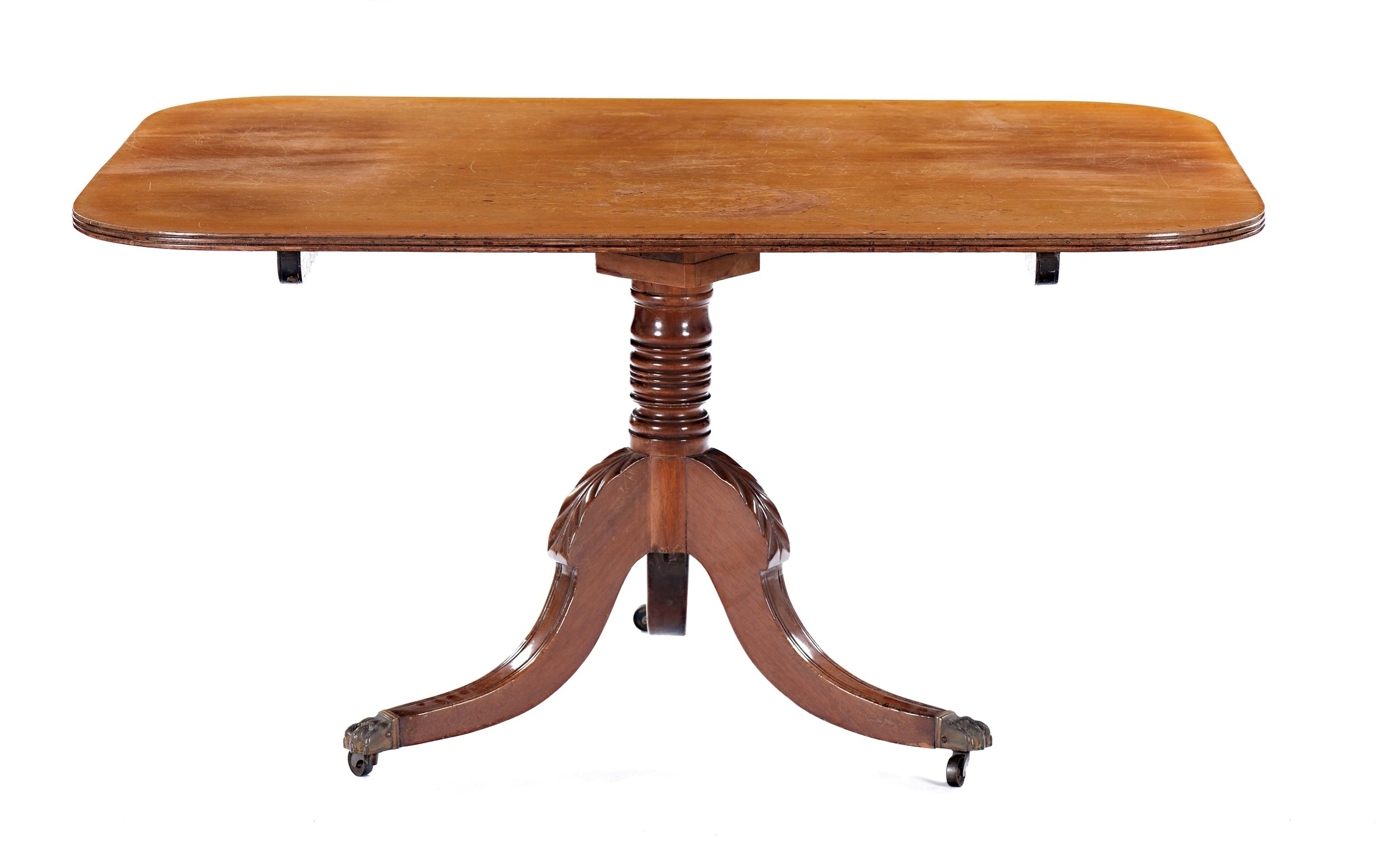 2018 A Mahogany Dining Table, England, 19Th Century – Furnishings From Pertaining To Palazzo Rectangle Dining Tables (Gallery 23 of 25)