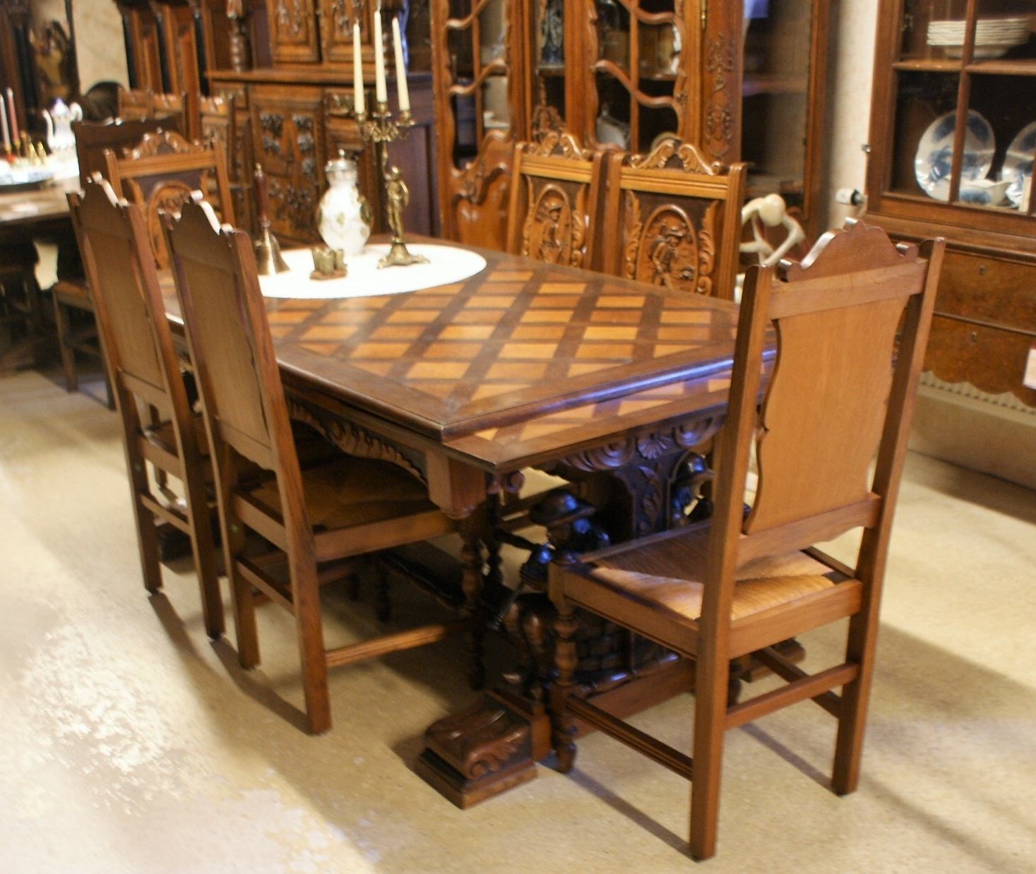 2018 Brittany Dining Tables throughout French Brittany Dining Set – Luc's