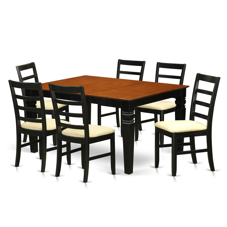 2018 Chandler Extension Dining Tables inside Red Barrel Studio Chandler 7 Piece Dining Set