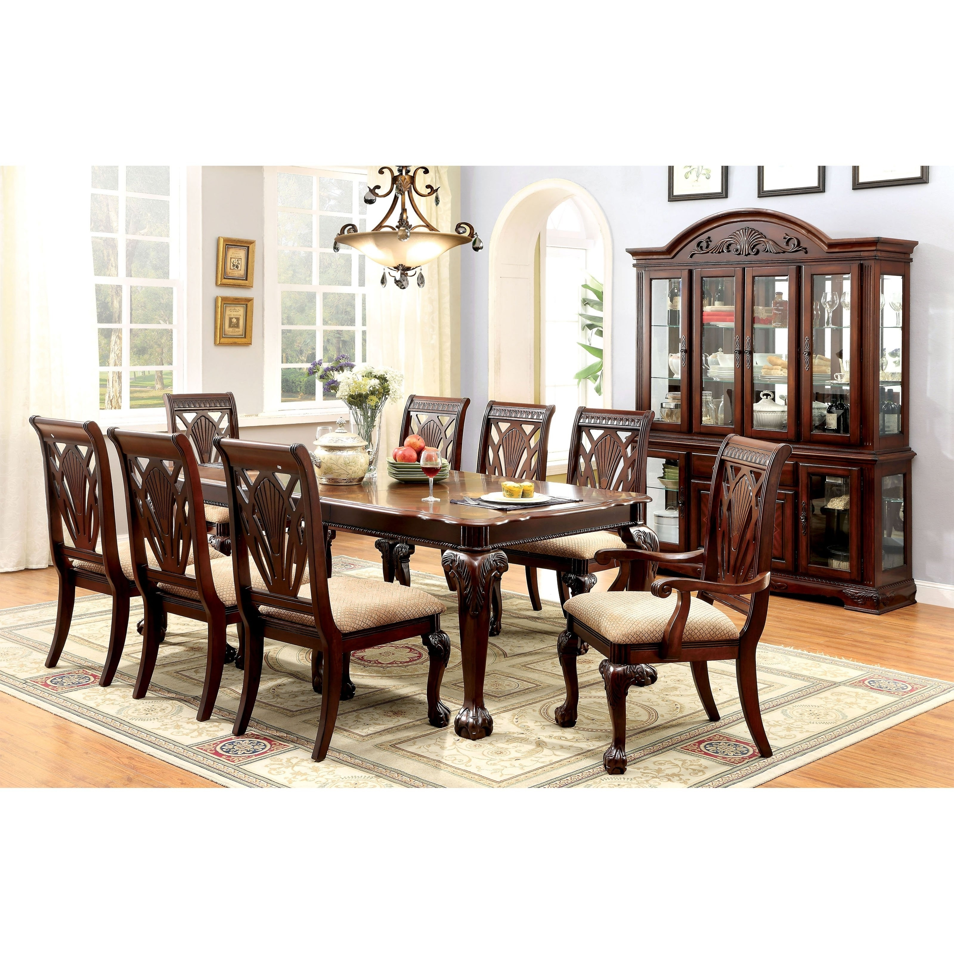 2018 Cheery Caira Piece Extension Set Back Chairs Caira Piece Extension For Chapleau Ii 9 Piece Extension Dining Tables With Side Chairs (View 16 of 25)