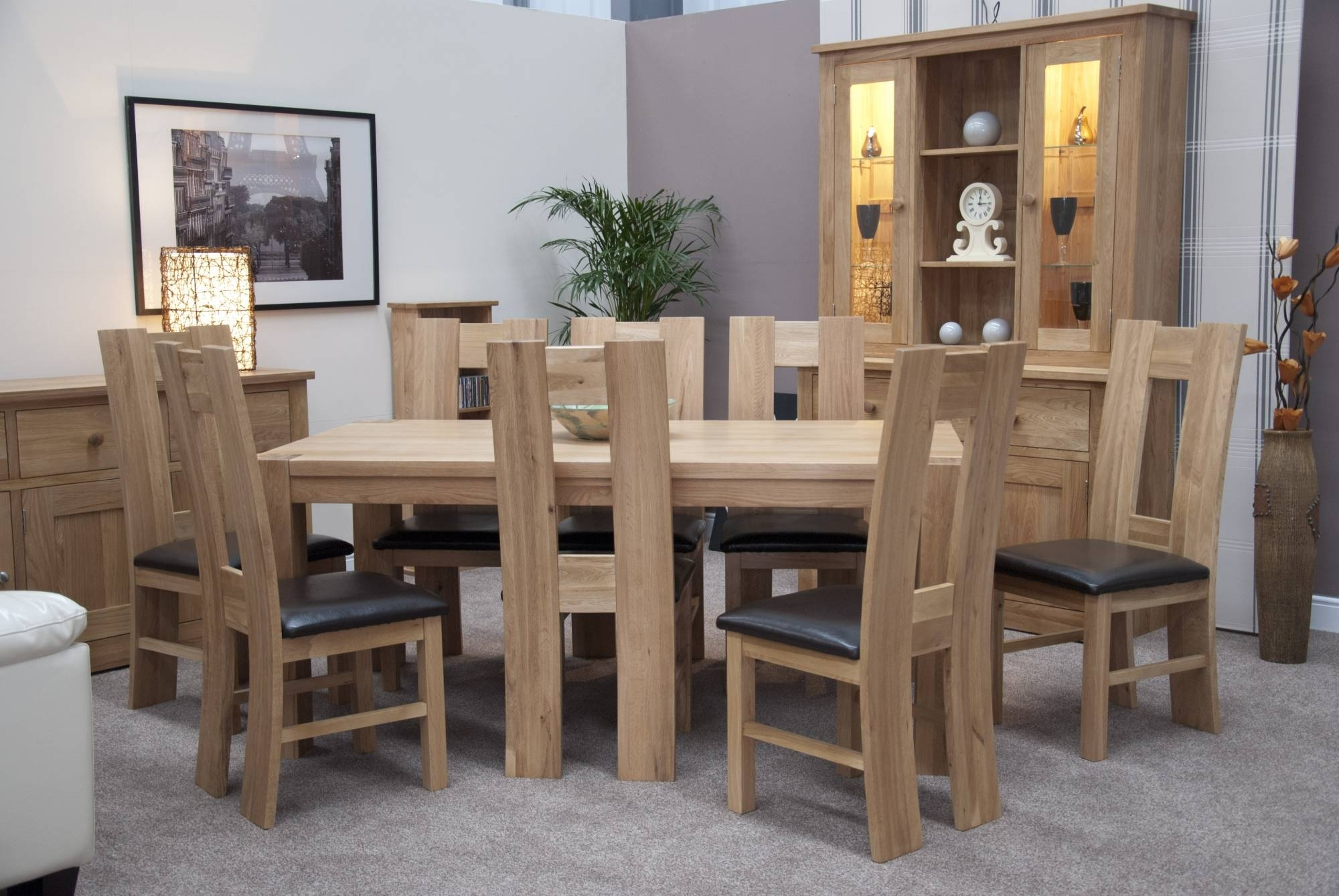 2018 Chunky Solid Oak Dining Tables And 6 Chairs With Regard To Homestyle Trendy Lifestyle Solid Oak  (View 11 of 25)