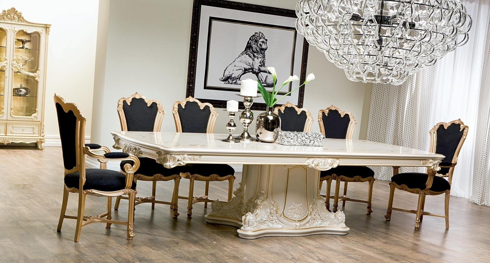2018 Classic Dining Table / Crystal / Rectangular / For Hotels With Crystal Dining Tables (View 10 of 25)