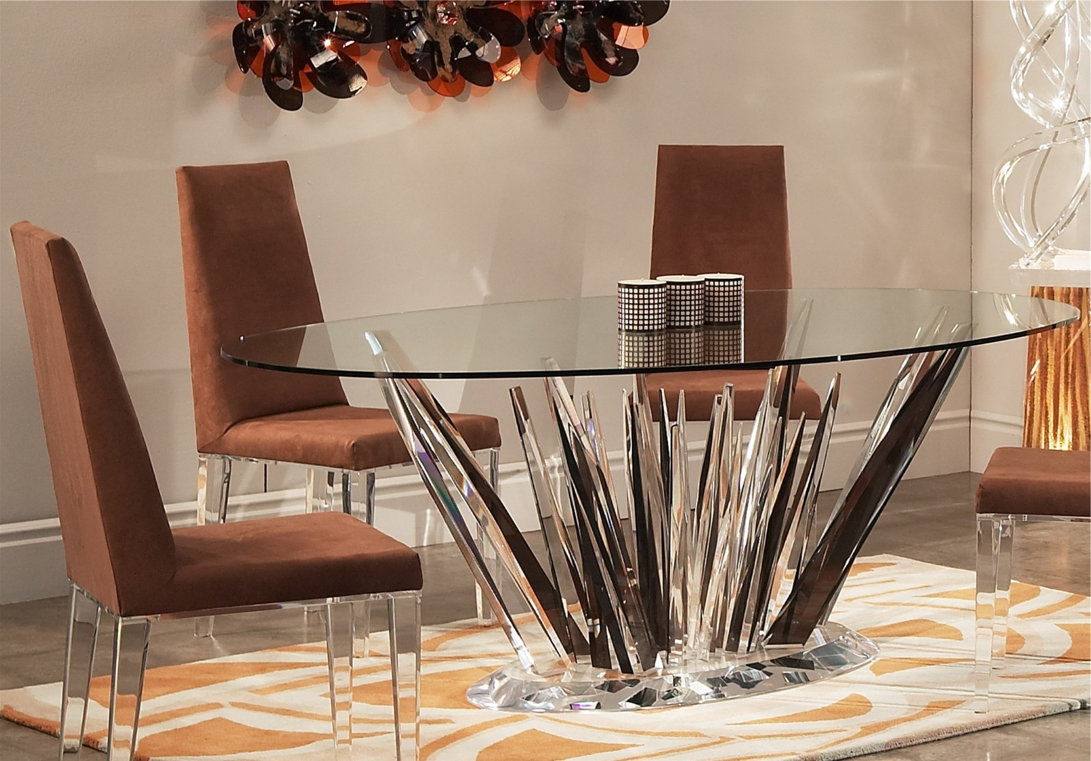 2018 Crystal Dining Tables In Elegant Acrylic Tables (View 8 of 25)