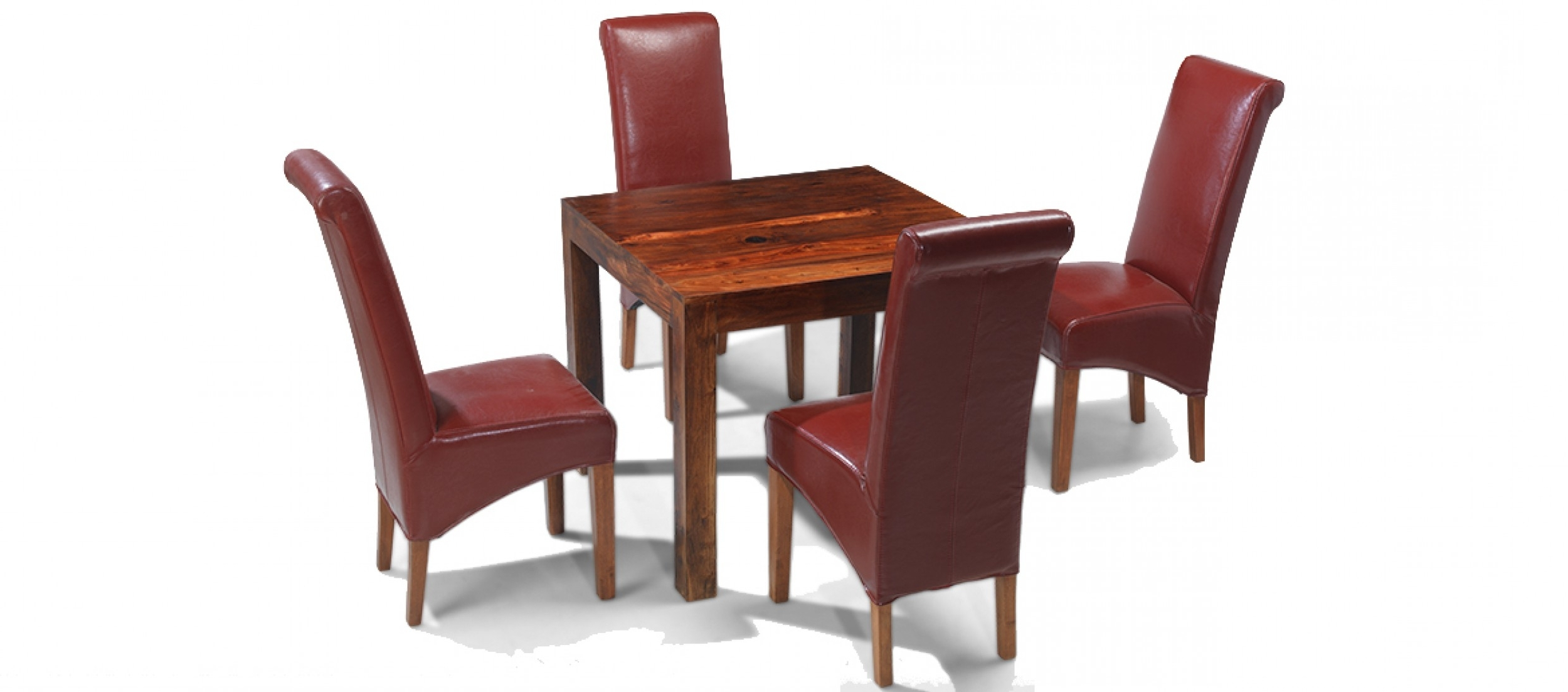 2018 Cube Sheesham 90 Cm Dining Table And 4 Chairs (Gallery 13 of 25)