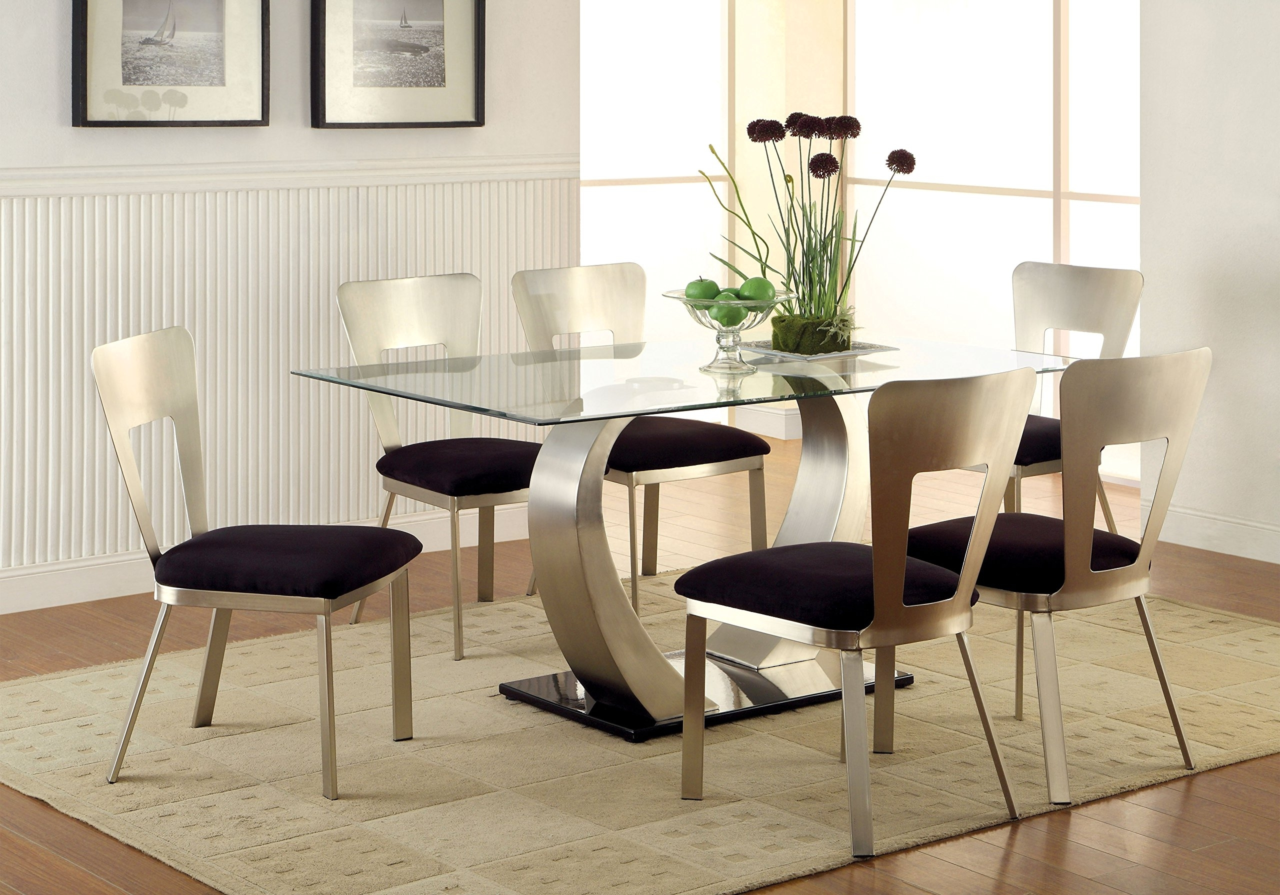 2018 Delfina 7 Piece Dining Sets Pertaining To Cheap Glass Top Dining Tables Rectangular, Find Glass Top Dining (View 13 of 25)