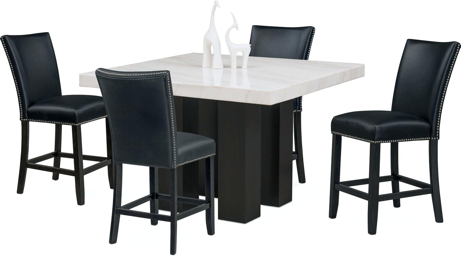 2018 Dining Table Stools Dining Table Dining Bar Table Set – Savagisms within Dining Tables With Attached Stools
