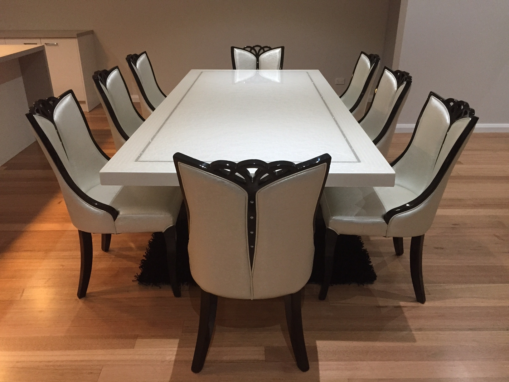 2018 Dining Tables For 8 For Bianca Marble Dining Table With 8 Chairs (View 7 of 25)