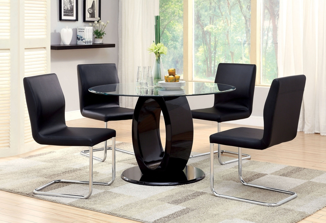 2018 Dining Tables. Glamorous Glass Dining Table Sets: Outstanding Glass With 6 Seater Glass Dining Table Sets (Gallery 24 of 25)