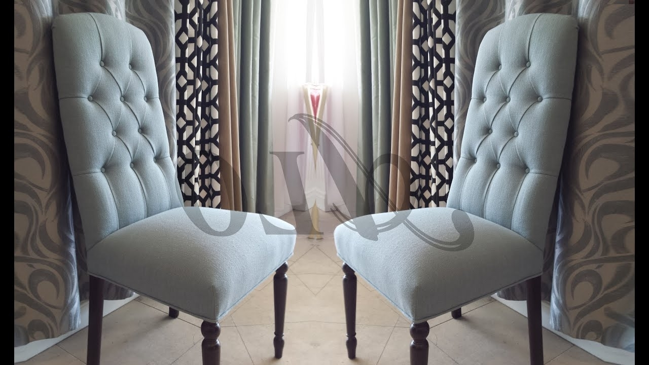 2018 Diy How To Reupholster A Dining Room Chair With Buttons. – Alo Upholstery Inside Dining Room Chairs (Gallery 22 of 25)