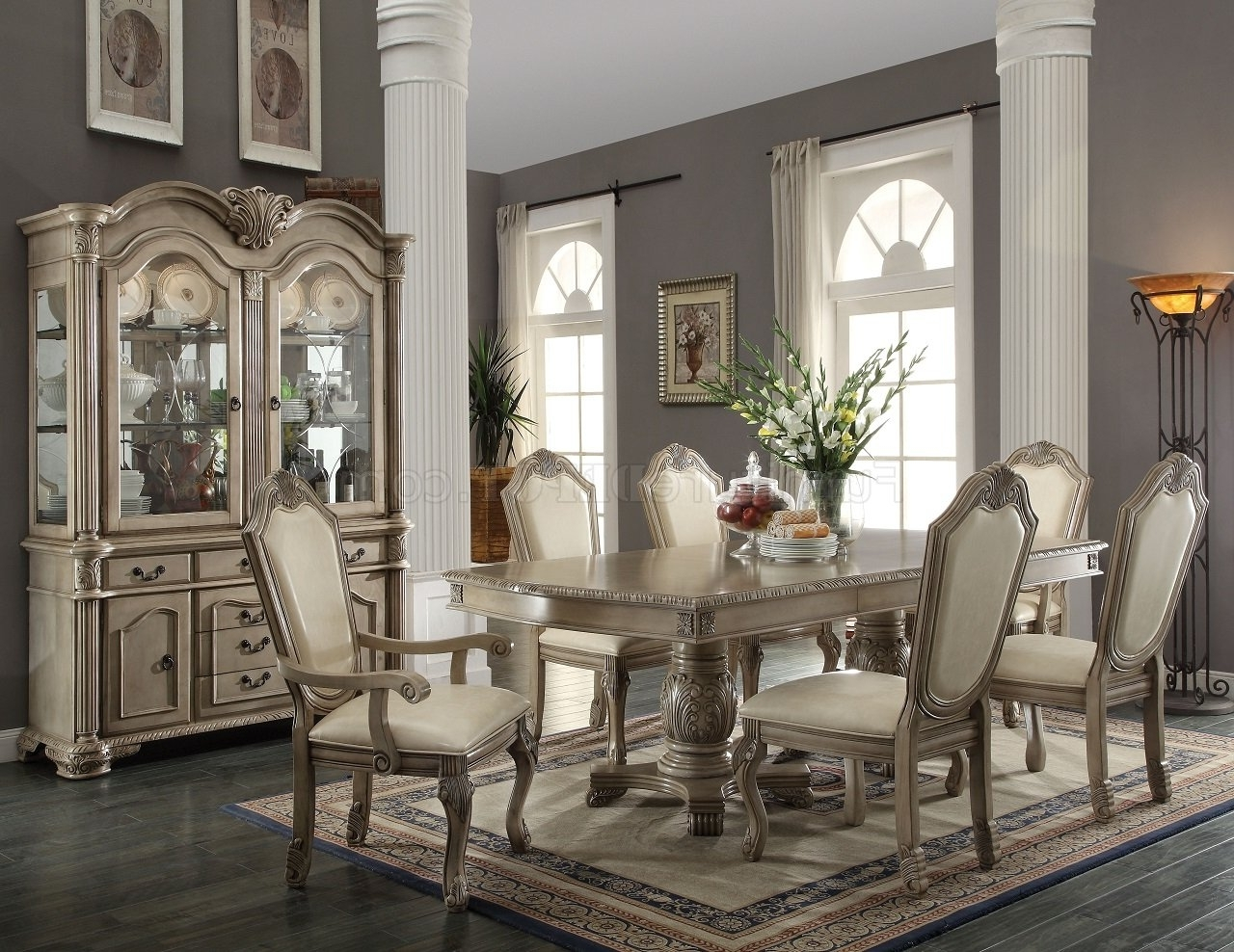 2018 Formal Dining Room Furniture: Dining Room Sets pertaining to Cream Lacquer Dining Tables