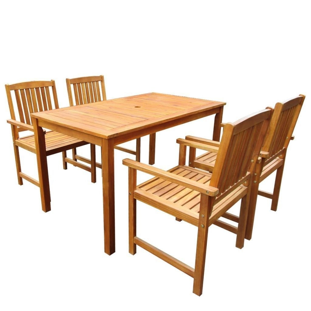 2018 Garden Dining Tables And Chairs in 4 Seater Garden Furniture Set Outdoor Patio Dining Table Chairs