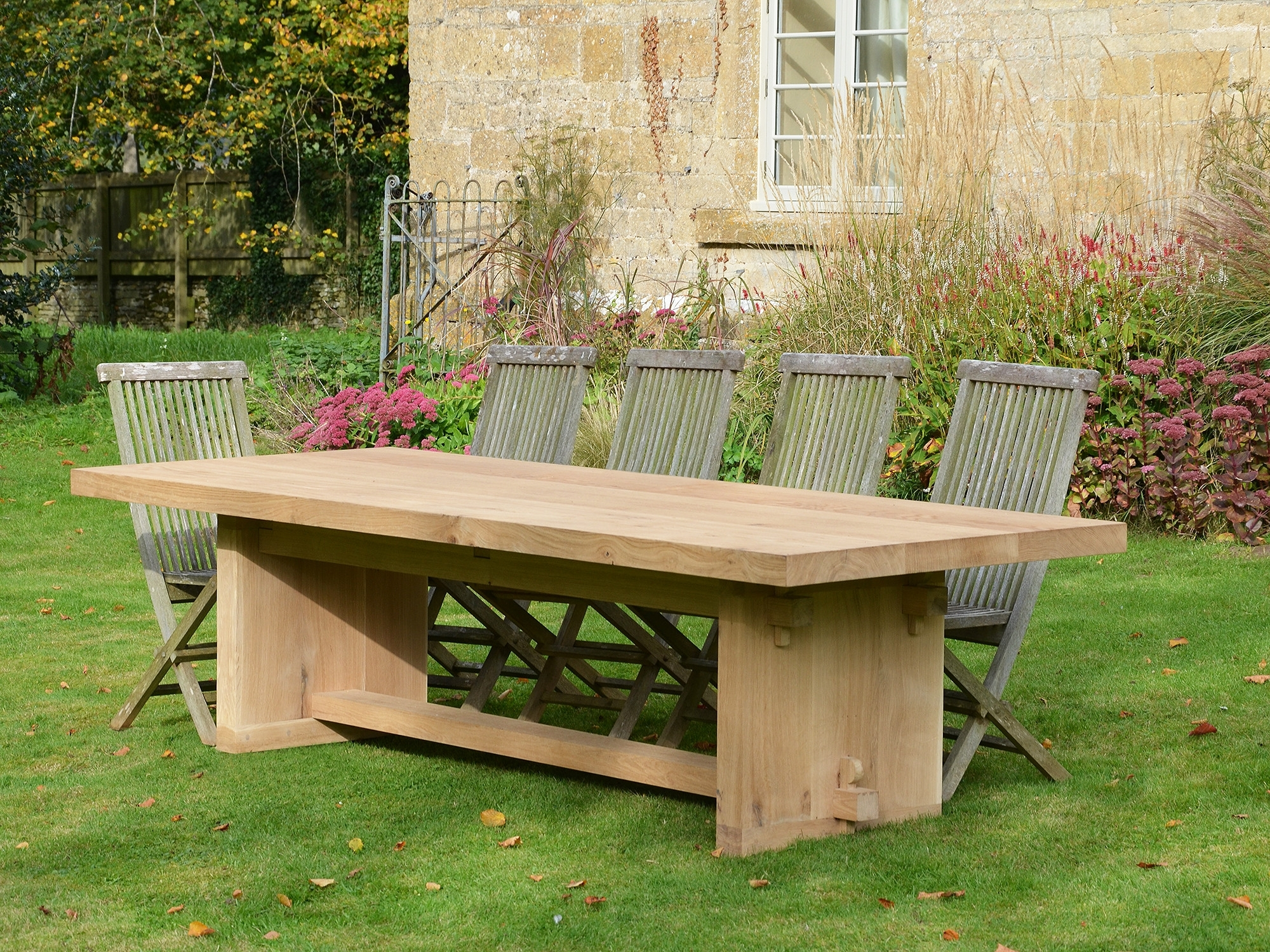 2018 Garden Dining Tables inside The Quercus Robur Garden Dining Table - Architectural Heritage