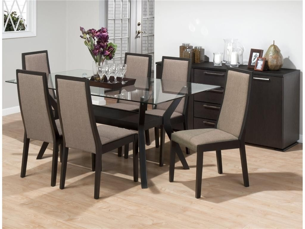 2018 Glass Dining Table Sets 6 Chairs – Contemporary Modern Pertaining To Most Recently Released Glass Dining Tables With 6 Chairs (View 16 of 25)