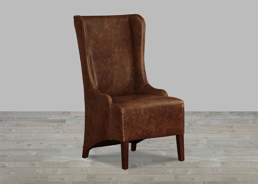 2018 High Back Dining Chairs Within Coco Brompton Leather Vintage High Back Dining Chair (Gallery 22 of 25)