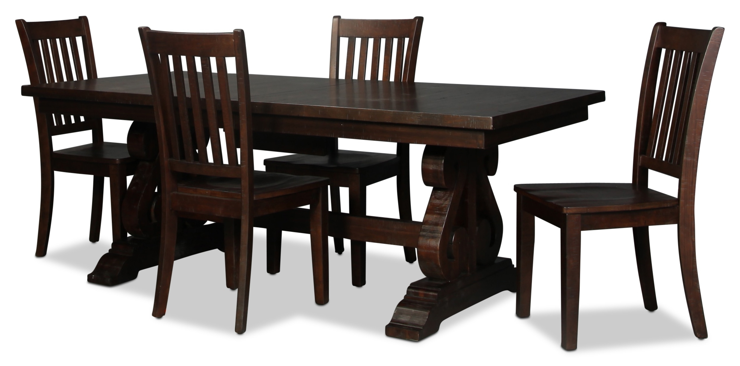 2018 Hudson Dining Tables And Chairs Pertaining To Hudson Table And 4 Side Chairs – Walnut (View 4 of 25)