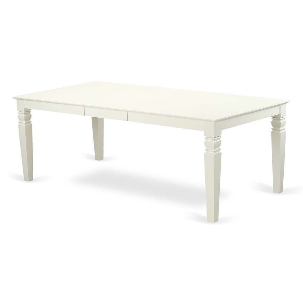2018 Logan Dining Table With Wood Seat – Linen White Finish. Throughout Logan Dining Tables (Gallery 10 of 25)