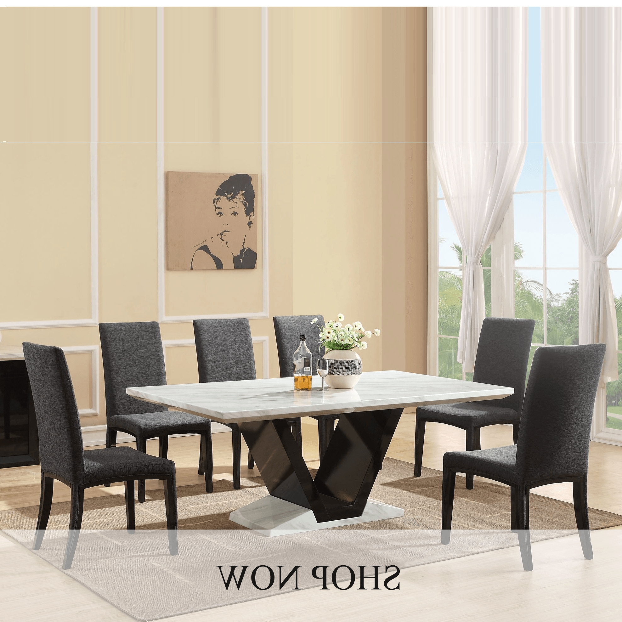 2018 Marble Dining Table White – Marble Dining Table Creative Art Ideas Throughout Marble Dining Tables Sets (View 2 of 25)