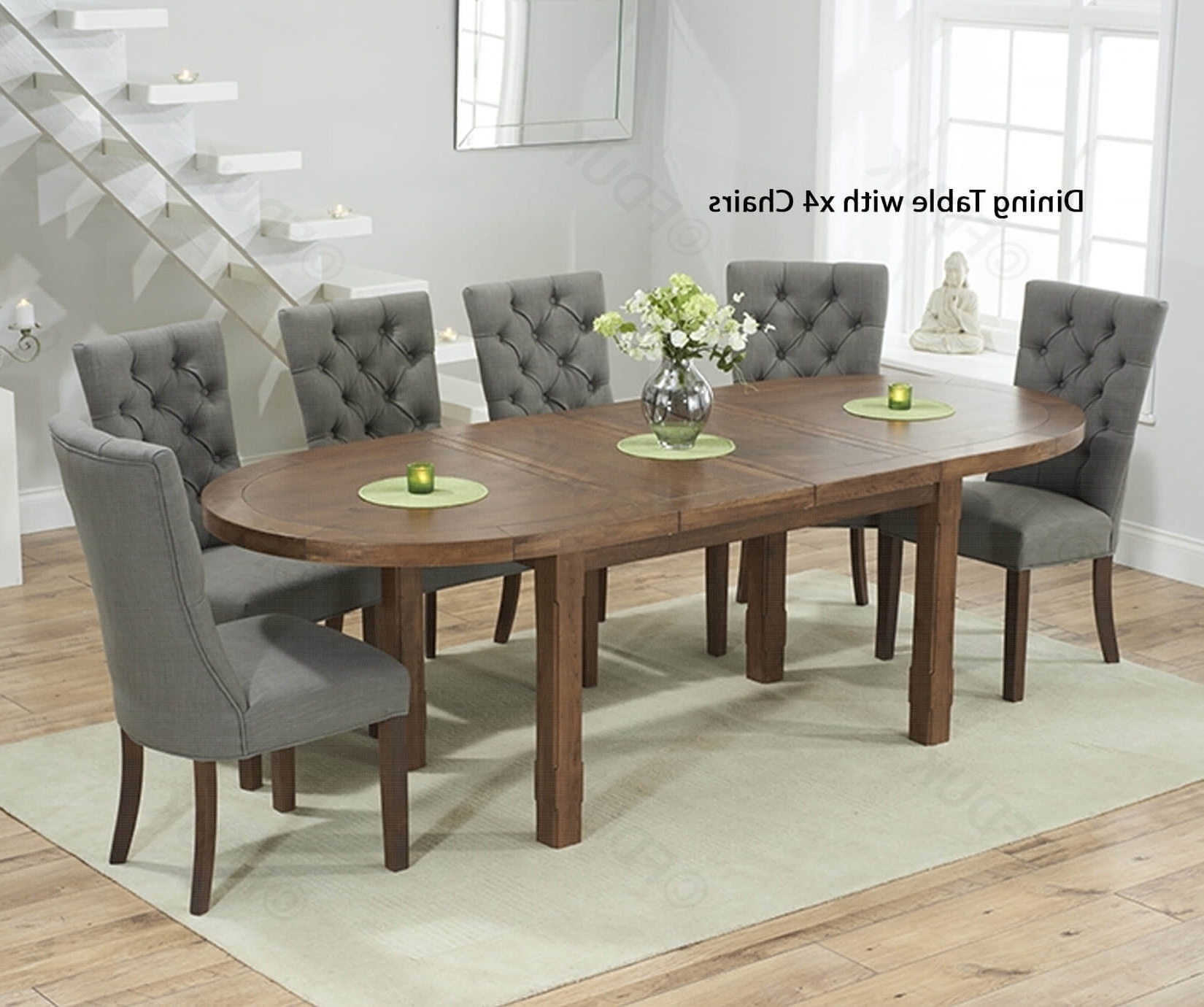 2018 Mark Harris Cheyenne Solid Dark Oak Dining Set – Oval Extending With Intended For Oval Oak Dining Tables And Chairs (Gallery 14 of 25)