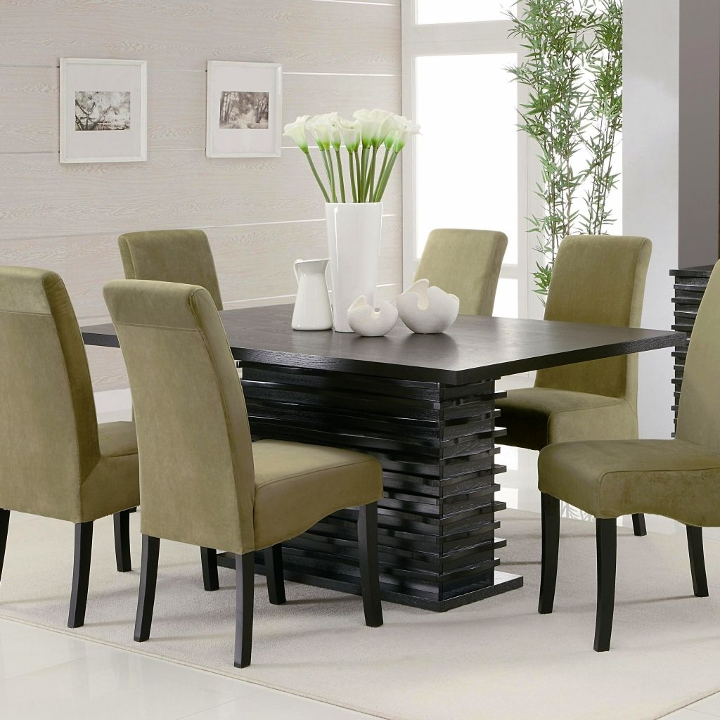 2018 Modern Dining Table And Chairs Inside Modern Dining Table Chairs Designs (Gallery 13 of 25)