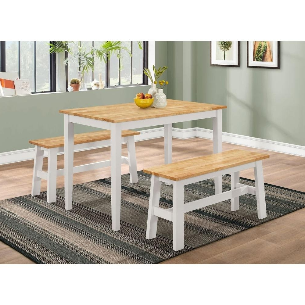 2018 New York Dining Tables Intended For 4D Concepts New York 3 Piece Natural And White Dining Set  (View 1 of 25)