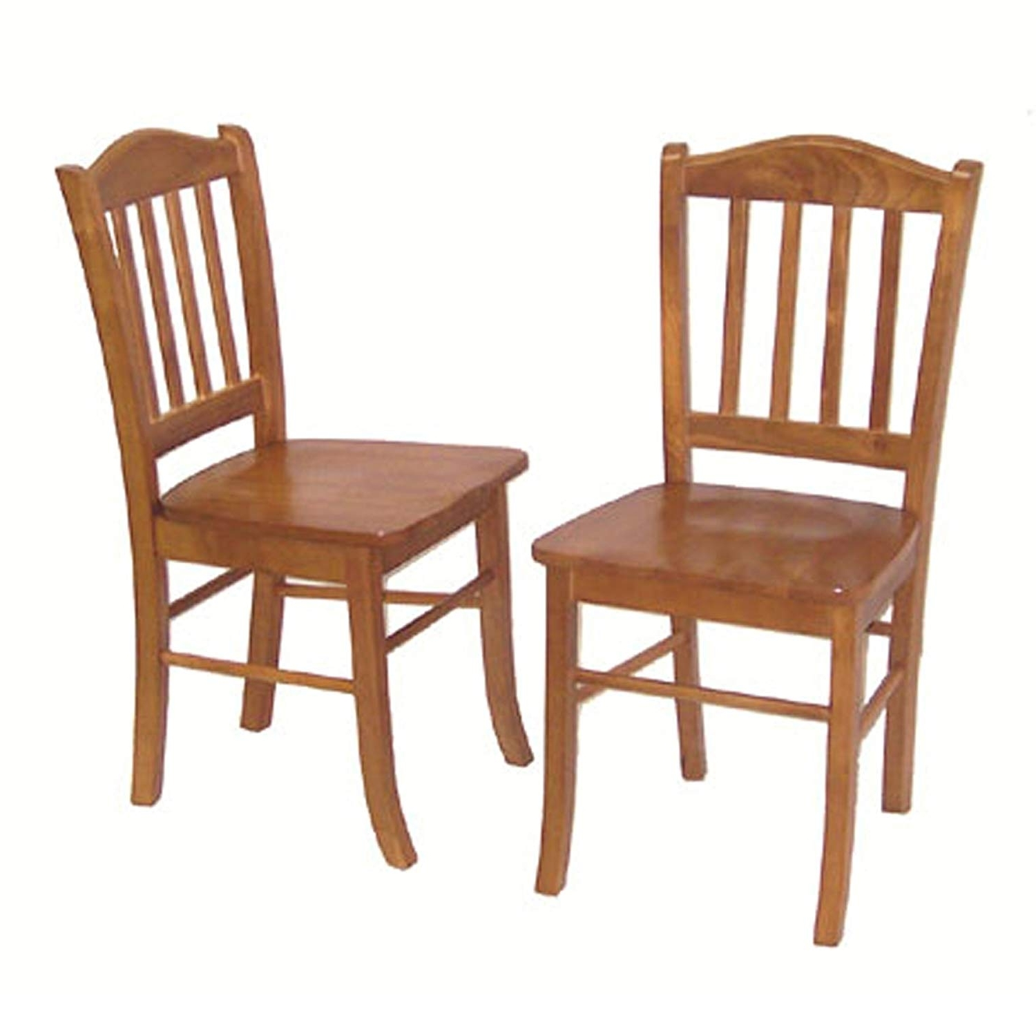 2018 Oak Dining Chairs Within Amazon: Boraam 30136 Shaker Chair, Oak, Set Of 2: Kitchen & Dining (Gallery 6 of 25)