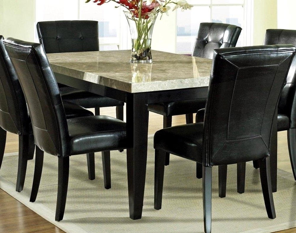2018 Overwhelming Granite Top Dining Table Furniture Sightly Design Of Throughout Dining Tables With White Legs And Wooden Top (Gallery 19 of 25)