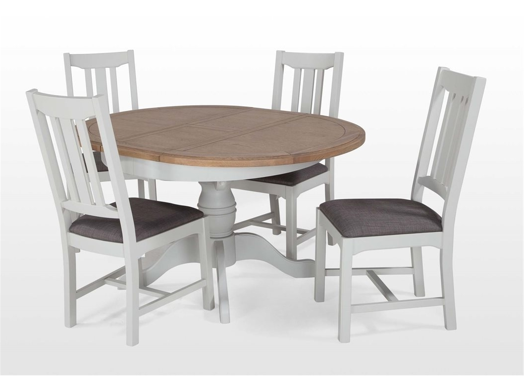 2018 Round Extending Oak Dining Tables And Chairs pertaining to Round Glass Dining Table For 6 Oak Room Furniture Extendable Land