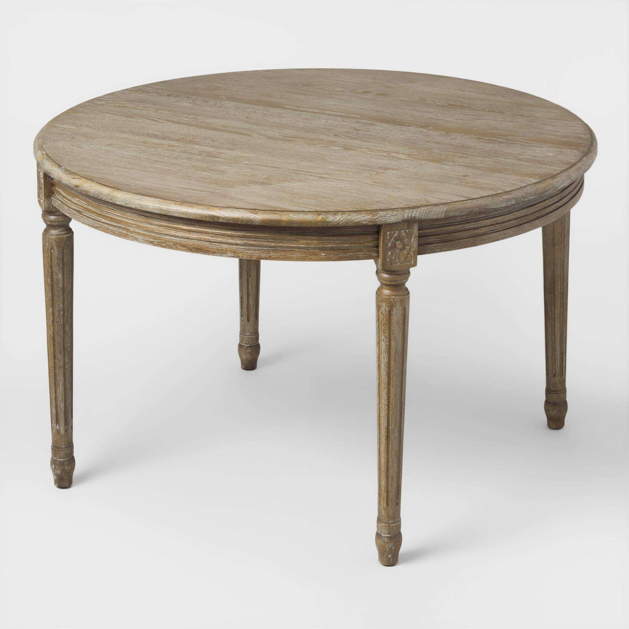 2018 Round Glass And Oak Dining Tables within Delightful Italian Round Wooden Dining Table For Sale At – Round