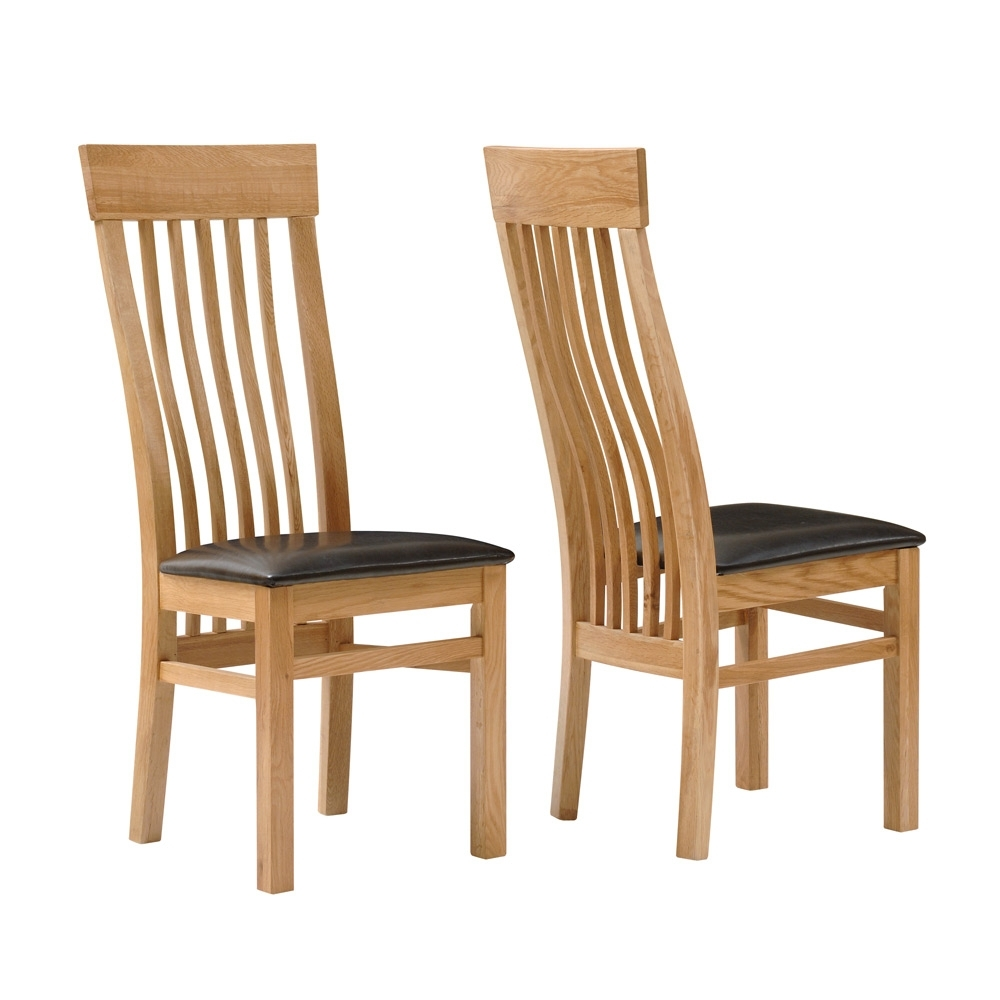 2018 Second Hand Oak Dining Chairs With Regard To Chairs Glamorous Light Oak Dining Chairs Used Oak Dining Cowhide (View 20 of 25)