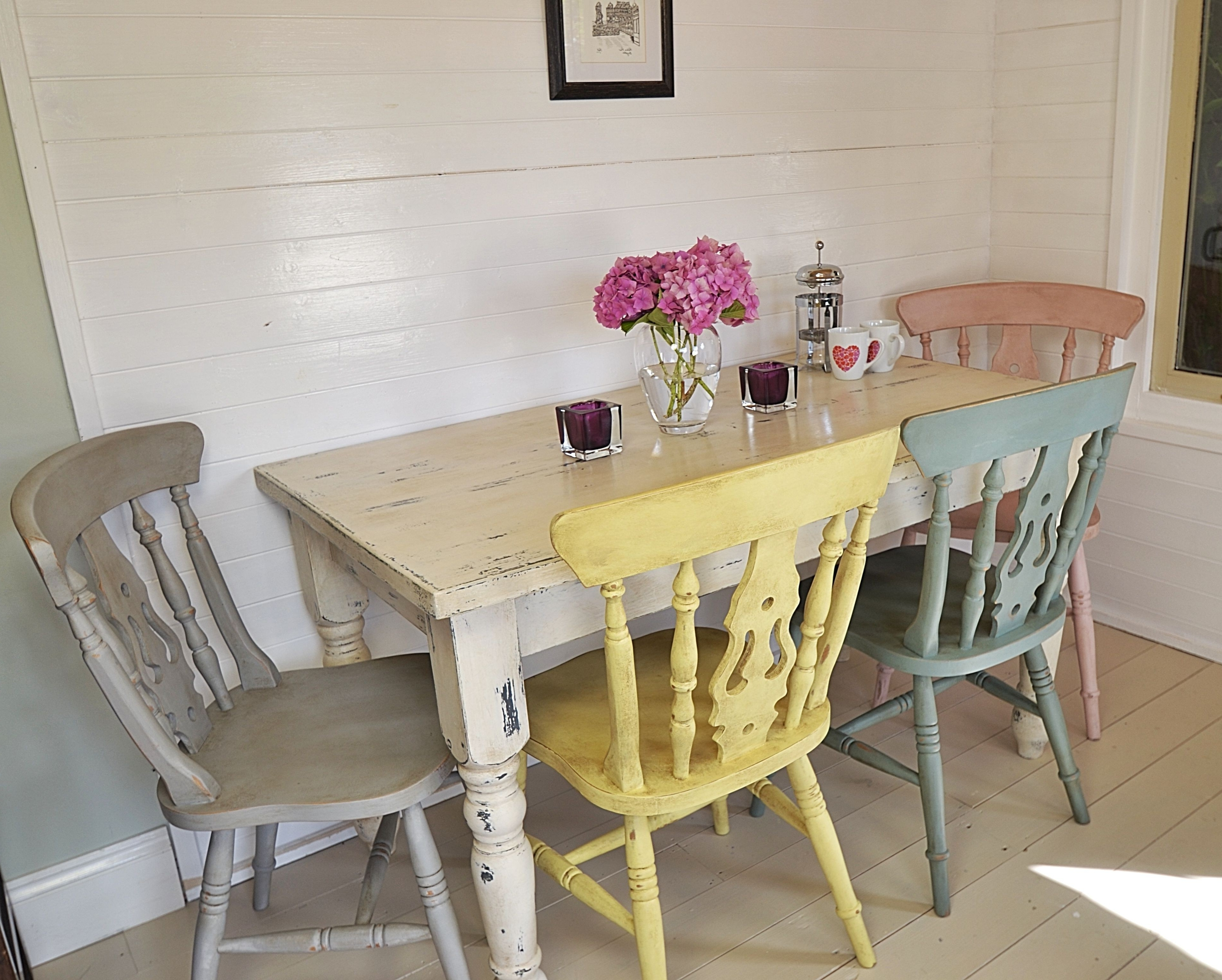 2018 Shabby Dining Tables And Chairs For Shabby Chic Dining Table Set Beautiful Shabby Chic Dining Room Table (View 1 of 25)