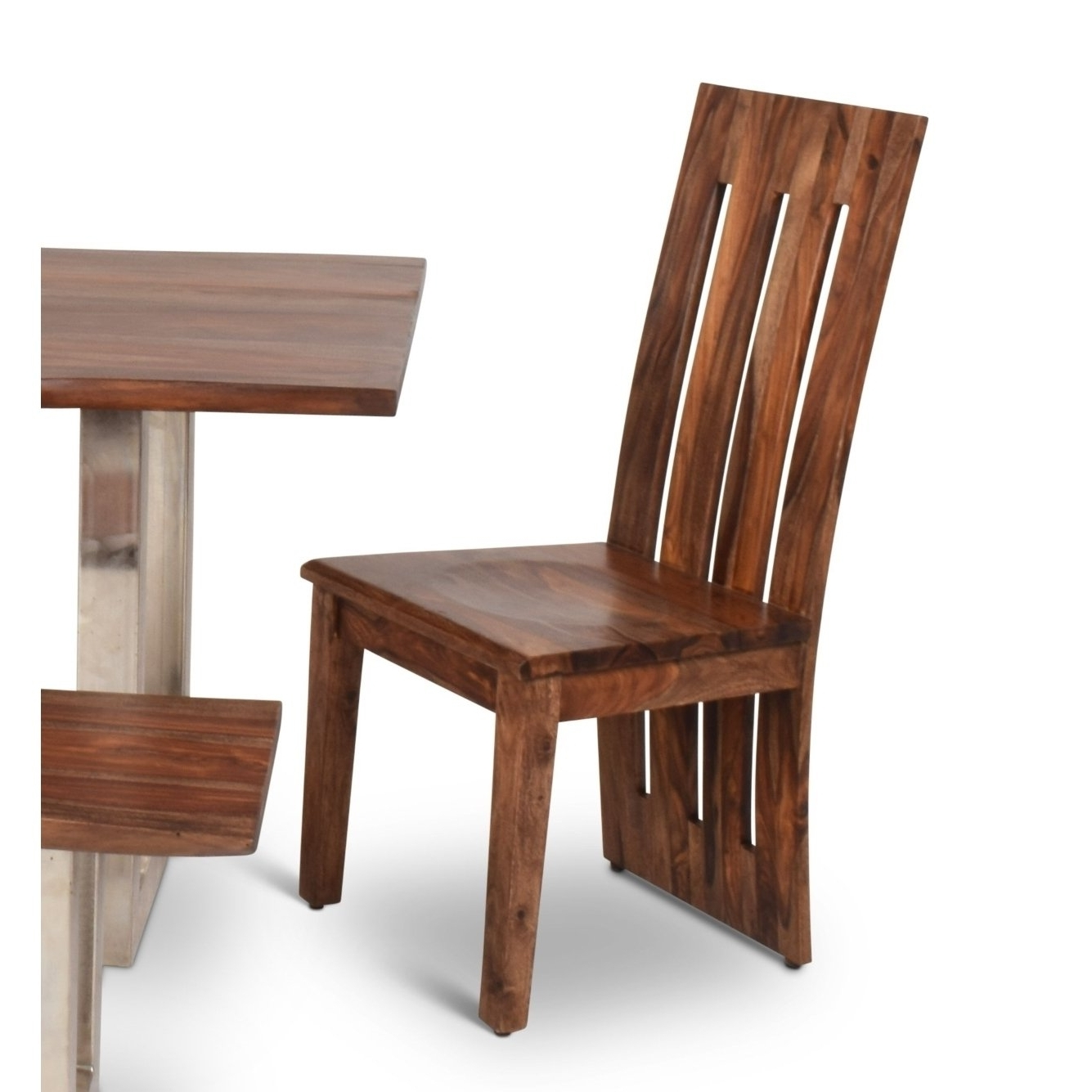 2018 Sheesham Wood Dining Chairs Pertaining To Shop Rania Sheesham Wood Dining Chairs (Set Of 2)Greyson Living (View 2 of 25)