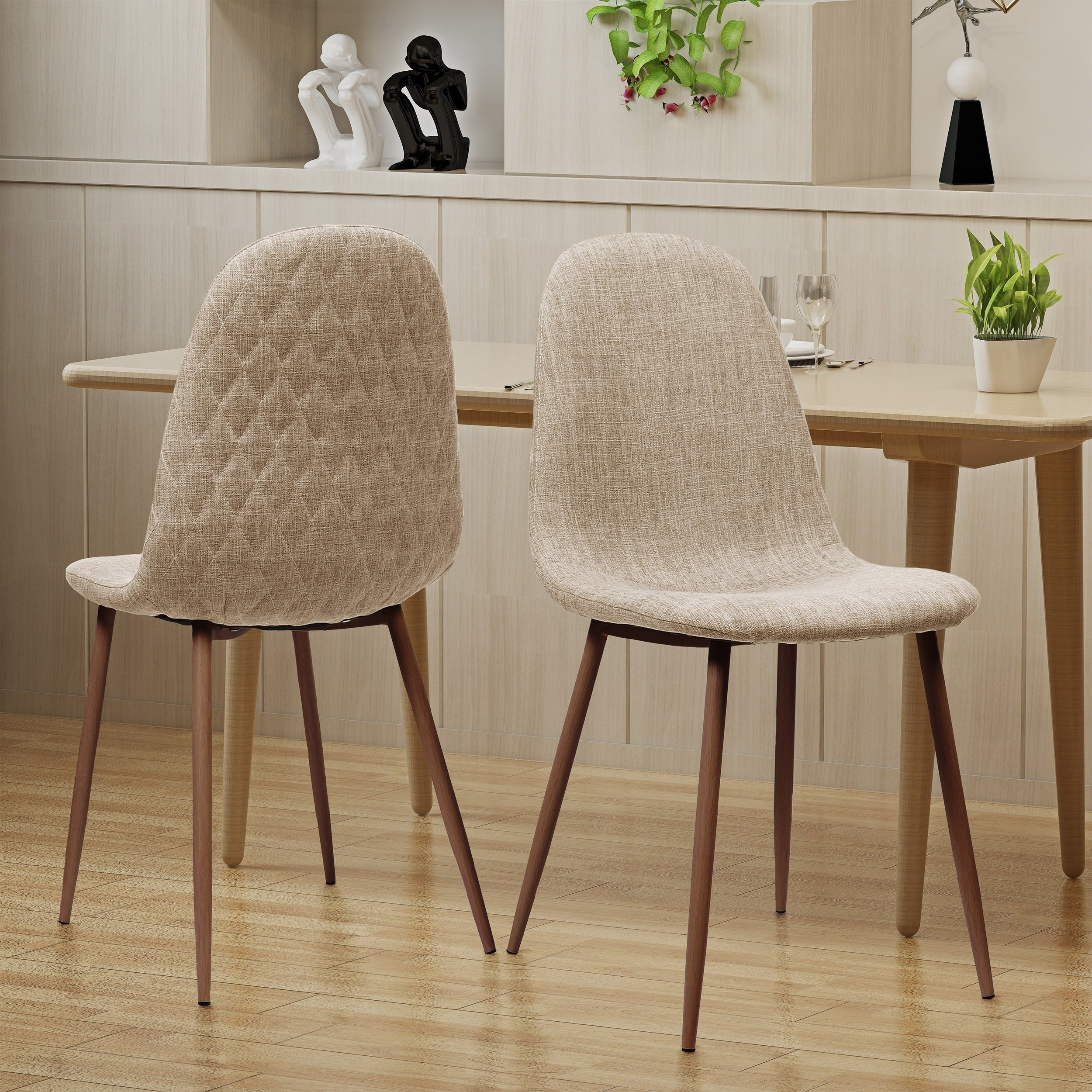 2018 Shop Caden Mid Century Fabric Dining Chair (Set Of 2)Christopher Within Caden 7 Piece Dining Sets With Upholstered Side Chair (View 5 of 25)