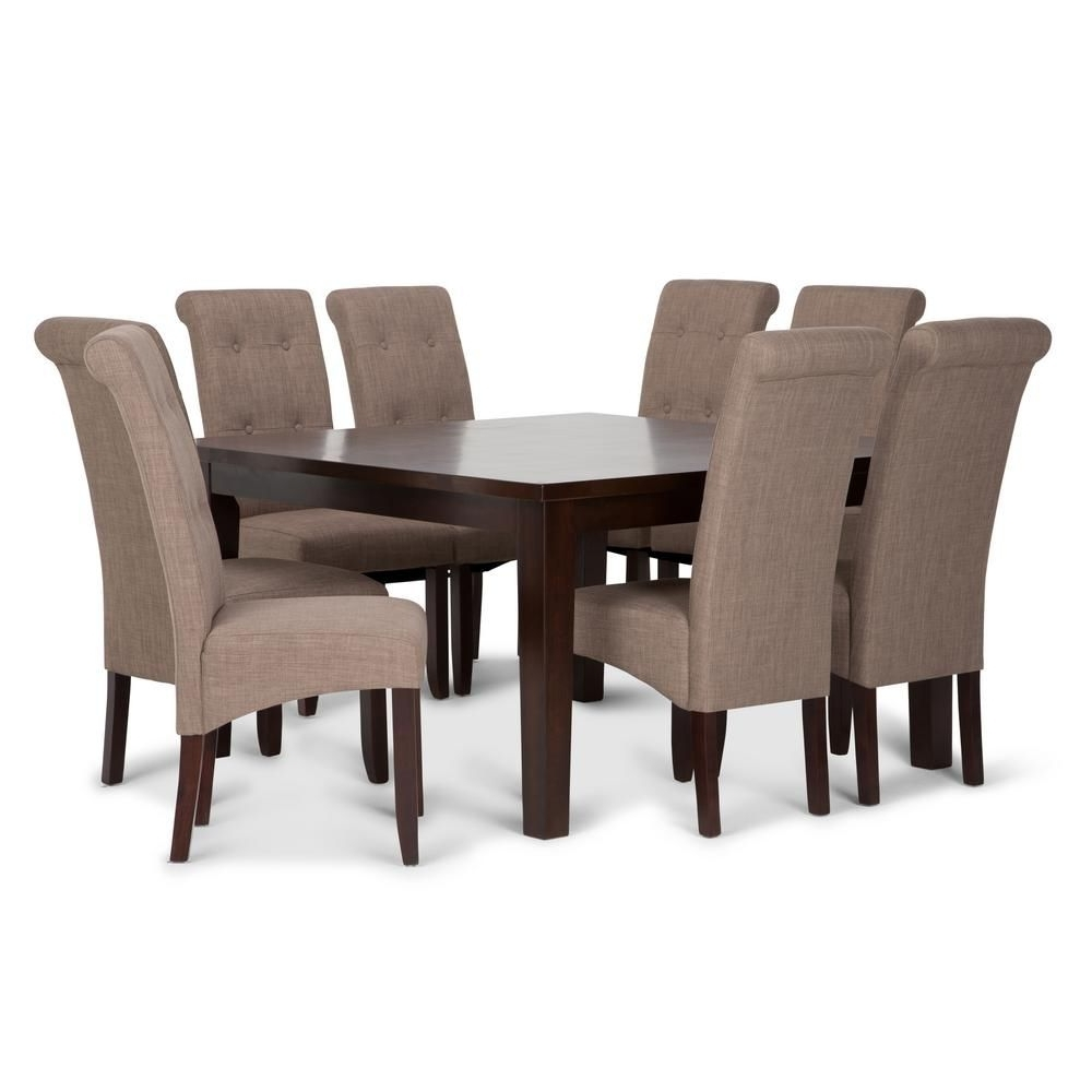 2018 Toby 7 Piece Dining Setorren Ellis Reviews For Helms 5 Piece Round Dining Sets With Side Chairs (View 2 of 25)