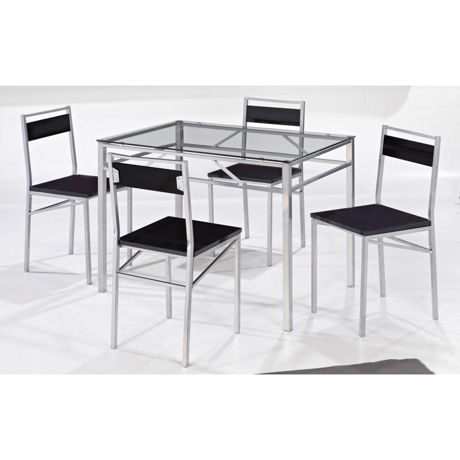 2018 Tokyo Dining Set 4 Seater – Clear Glass Dining Table & 4 Chairs Throughout Tokyo Dining Tables (Gallery 4 of 25)