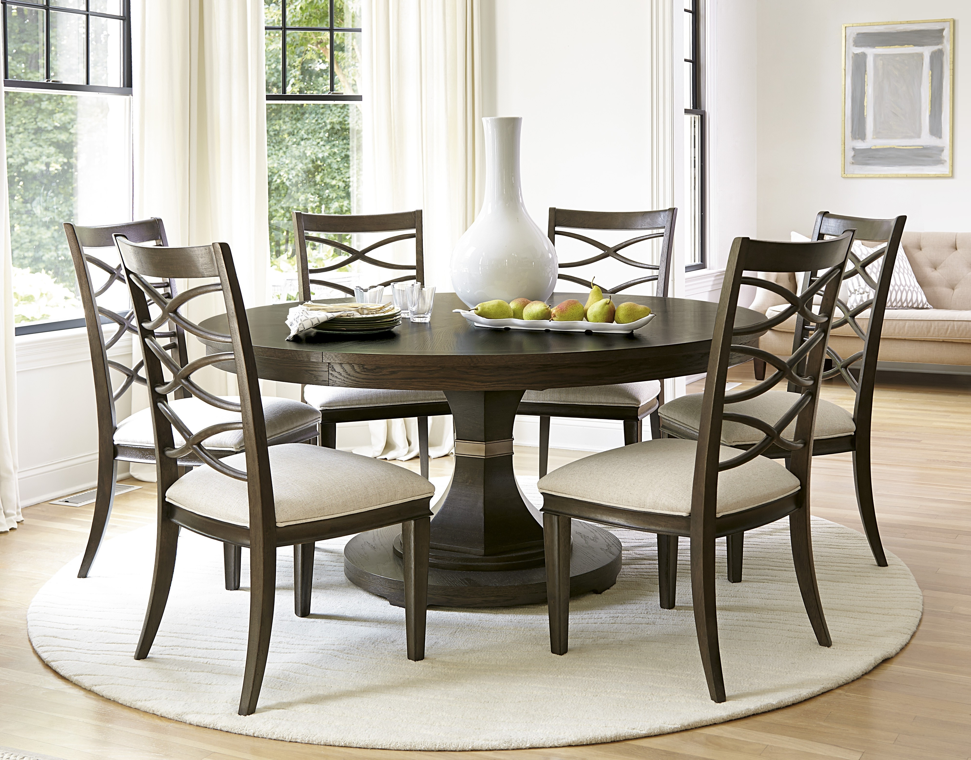 2018 Top Popular Round Dining Room Table Property Plan – Officeauc Throughout Caden 5 Piece Round Dining Sets (Gallery 7 of 25)