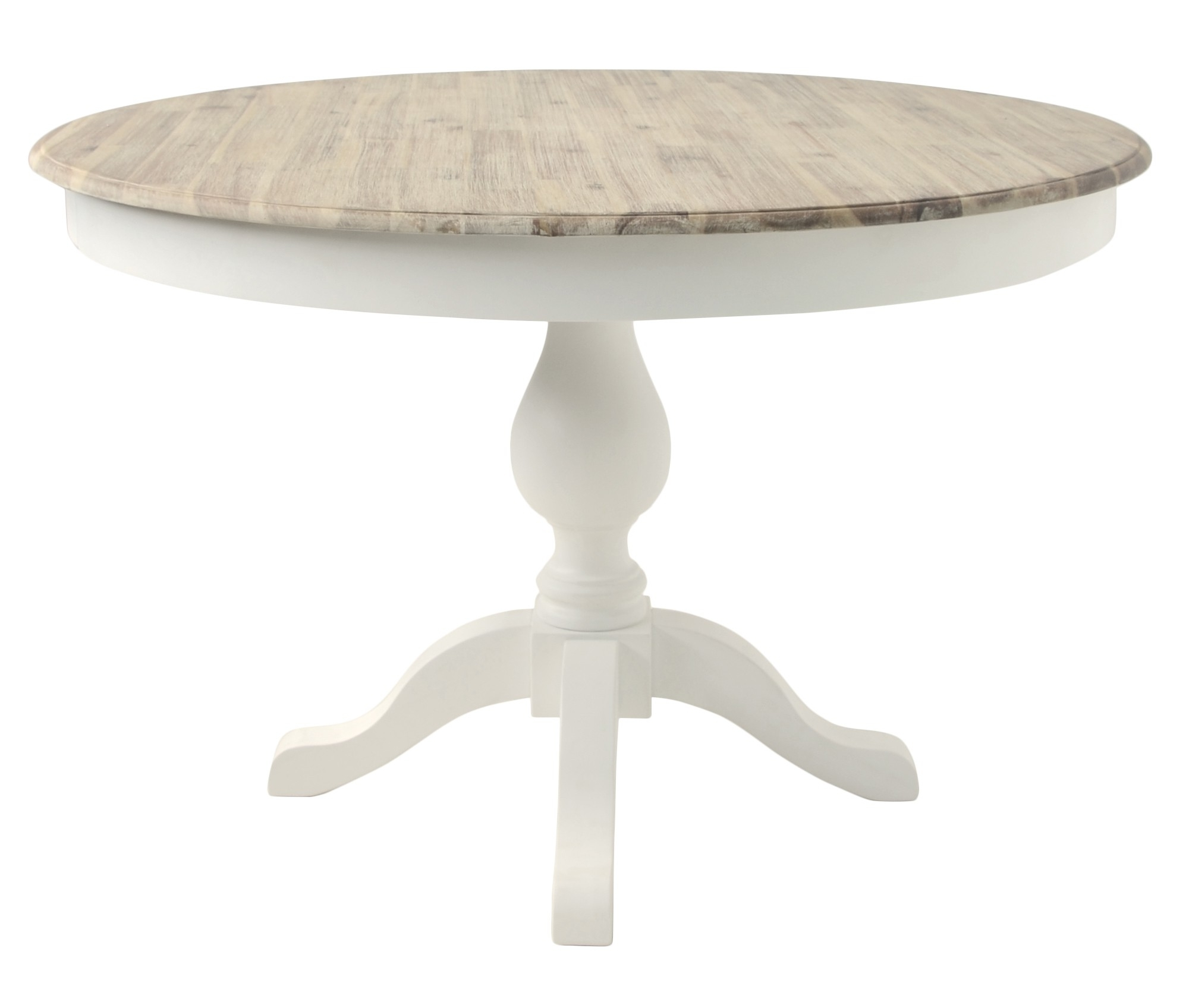 2018 White Circle Dining Tables Intended For Florence Large Pedestal Round Dining Table (120Cm) – White (View 8 of 25)