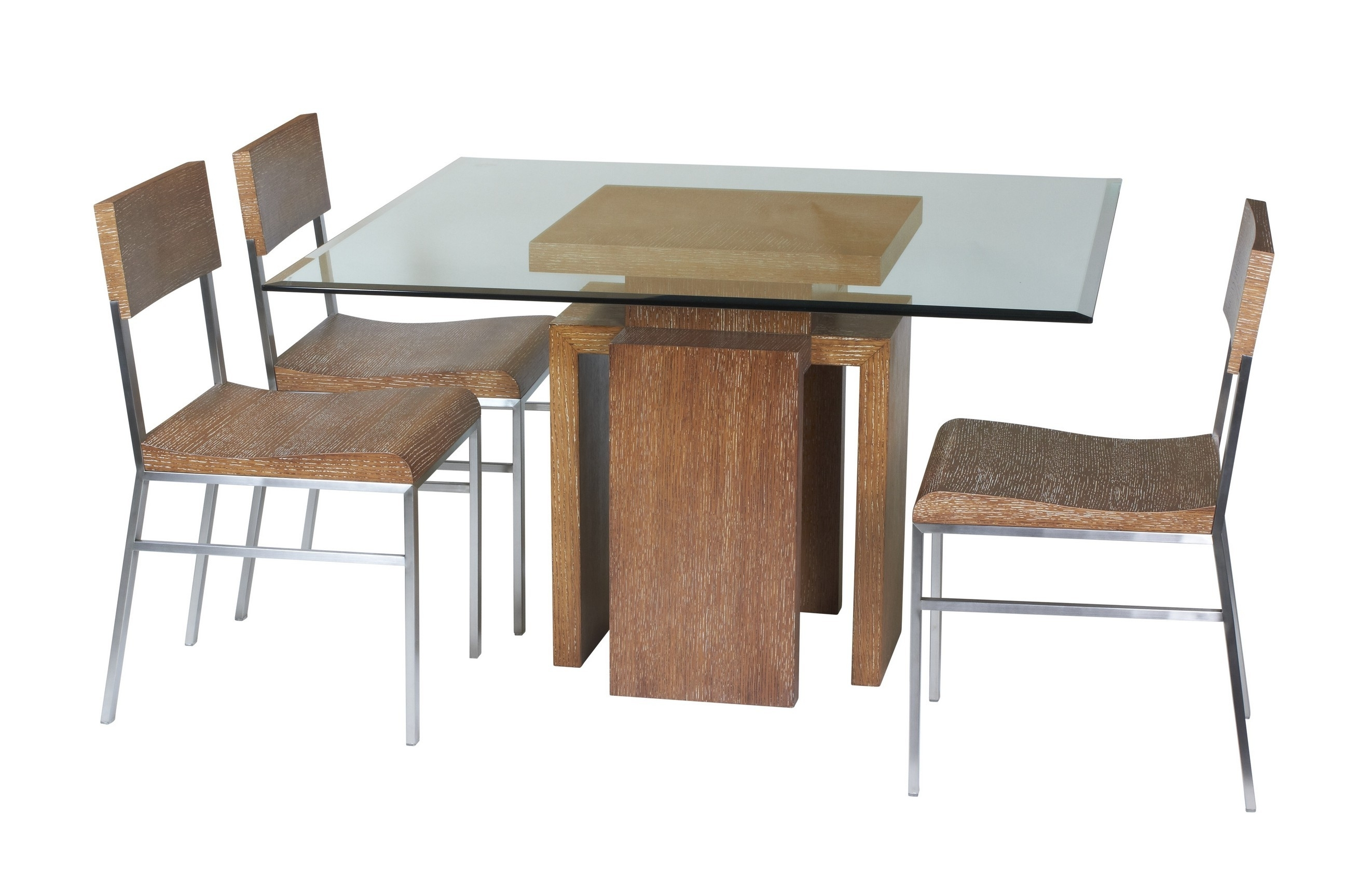 2018 Wooden Glass Dining Tables For Awesome Rectangular Beveled Edge Profile Glass Dining Table With (View 2 of 25)